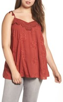 Daniel Rainn Plus Size Women's Crochet Tank