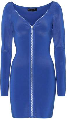 David Koma Embellished zip-front minidress