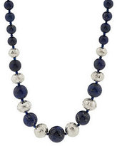 "Lapis Gustavo Artisan Crafted Sterling Gemstone Bead 18"" Necklace"