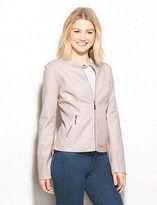 dressbarn Braided Faux-Leather Jacket