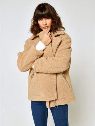 M&Co Aviator teddy jacket