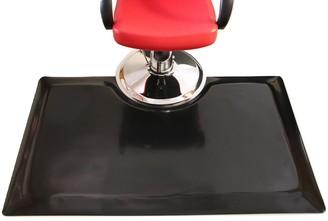 Rhino Mats 102 Rhino Tile Top Rectangle Salon Mat 3'X5' Solid Black