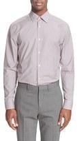 Paul Smith Men's Trim Fit Micro Gingham Dress Shirt