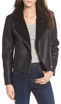 Vigoss Women's Fleece Collar Moto Jacket