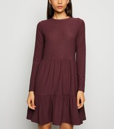 New Look Long Sleeve Tiered Smock Dress