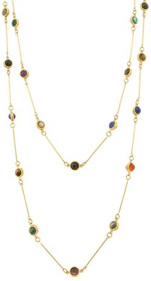 Sylvia Toledano Candies 22K Goldplated & Multi-Stone Layered Necklace