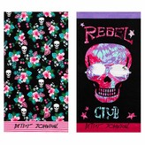 Betsey Johnson Rebel Riders & Cherry Palms Beach Towel - Set of 2 - Pink/Multi