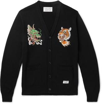 Wacko Maria + Tim Lehi Embroidered Cotton-Blend Cardigan
