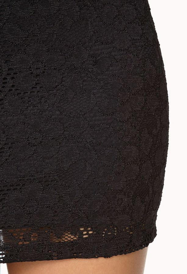 Forever 21 eyelet lace bodycon skirt