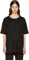 Y's Black All Needles Big T-Shirt