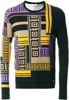 Versace Greek columns turtleneck jumper - men - Silk/Polyamide/Spandex/Elastane - M