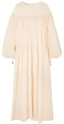 Philosophy di Lorenzo Serafini Crochet-trimmed Gathered Georgette Maxi Dress
