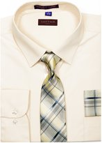 Guytalk Mens Dress Shirt With Matching Tie And Handkerchief