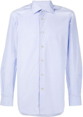 Kiton Pointed Collar Cotton Shirt