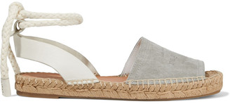 Rag & Bone Estelle Embossed Leather And Suede Espadrille Sandals
