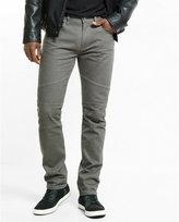 Express slim leg slim fit gray moto jean