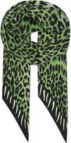 Rockins Leopard's teeth skinny scarf