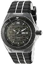 Technomarine Men's Quartz Watch with Black Dial Analogue Display and Black Silicone Strap TM-115182