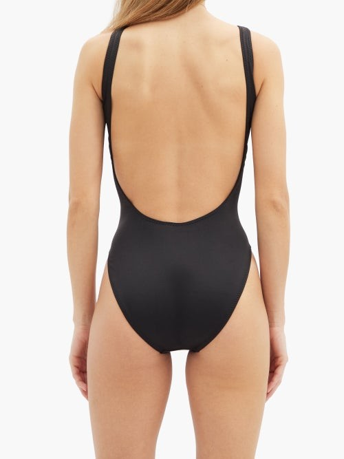 Thumbnail for your product : Norma Kamali Scoop-neck Open-back Swimsuit - Black