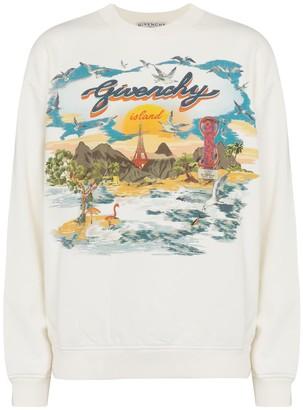 Givenchy Printed cotton jersey sweatshirt