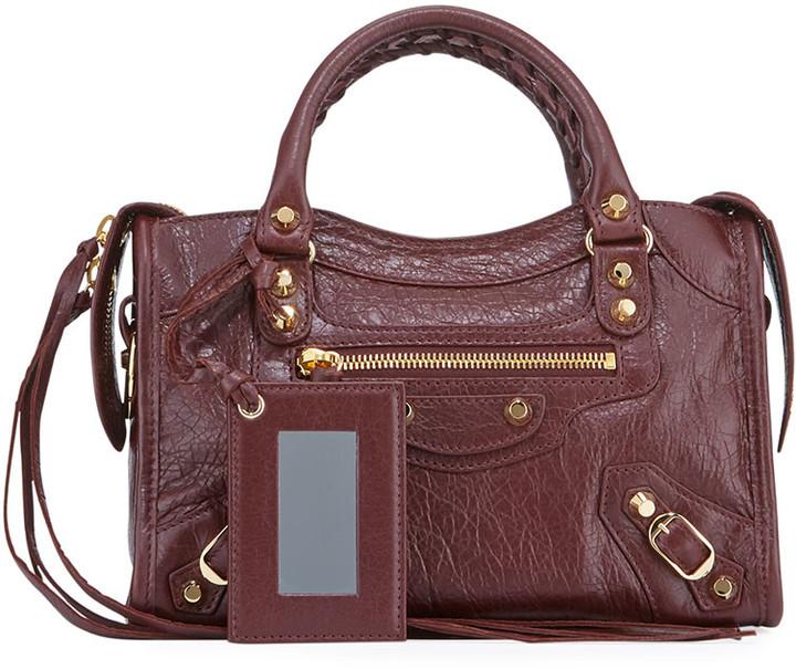 Balenciaga Classic City Mini Leather Satchel Bag