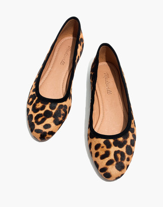 Madewell The Reid Ballet Flat in Leopard Calf Hair
