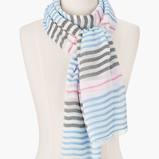 Talbots Variegated Stripes Oblong Scarf