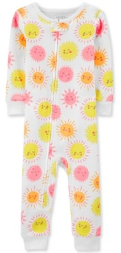 Carter's Baby Girls 1-Pc. Sun-Print Footless Cotton Pajamas