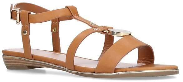 Nine West - Tan 'Shrink' Flat Sandals