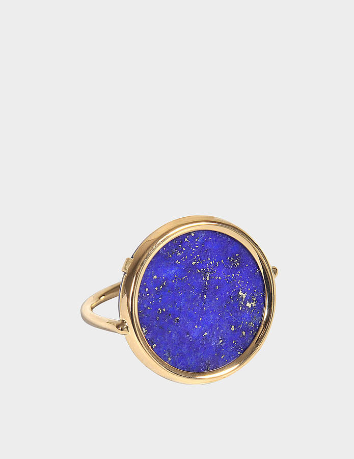 ginette_ny Ever Lapis 18-karat rose gold Disc ring