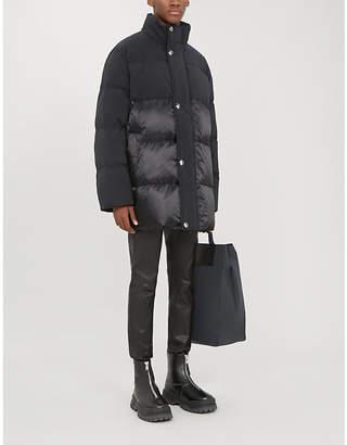 Acne Studios Two-tone shell-down coat