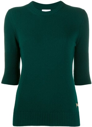 Barrie ribbed cashmere top