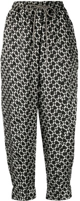 Odeeh Abstract-Print Harem Trousers