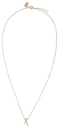 VANRYCKE Rose Gold And Diamond Abecedaire Letter X Necklace