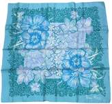 Nina Ricci 100% Authentic Turquoise Silk Scarf