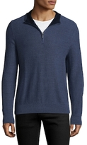 Brooks Brothers Merino Zipped Wool Sweater