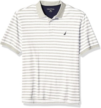 Nautica mens Classic Fit Short Sleeve 100% Cotton Stripe Soft Polo Shirt