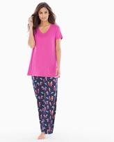 Soma Intimates Pajama Set Mai Tai Navy RG