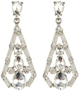 Cara Accessories Baguette Open Teardrop Drop Earrings