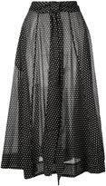 Lisa Marie Fernandez tie waist polka dot skirt - women - Cotton - 1