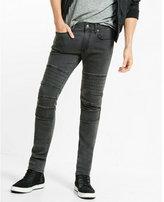 Express skinny fit skinny leg black moto jeans
