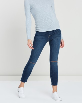 Good American Maternity The Home Stretch Crop Jeans