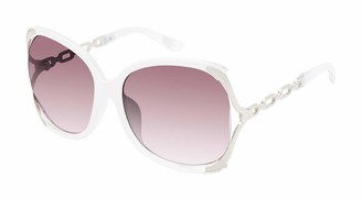 Jessica Simpson Women's J5833 Over-Sized Vented Butterfly-Shaped Metal Bracelet Temple UV Protective Sunglasses | Wear Year-Round | Give as a Gift to Her