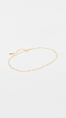 Chan Luu White Pearl & Gold Anklet