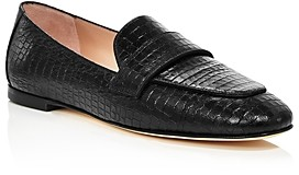 Stuart Weitzman Women's Payson Croc-Embossed Loafers