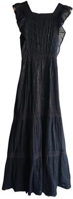 soeur Black Cotton Dress for Women