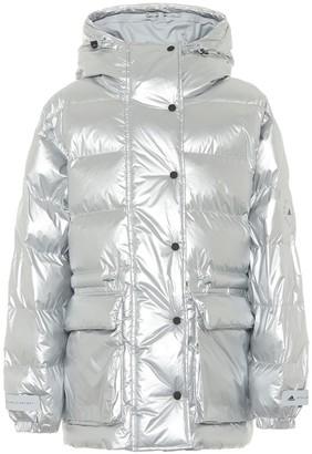 adidas by Stella McCartney Hooded metallic puffer coat