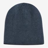 Joe Fresh Men's Reversible Knit Beanie, Black (Size O/S)