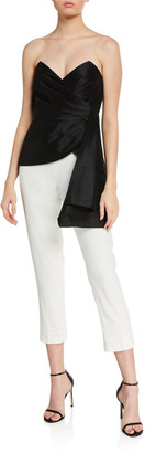 Jay Godfrey Ilaria Two-Tone Strapless Jumpsuit