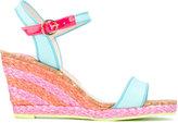 Sophia Webster 'Lucita Mid' sandals - women - Cotton/Jute/Leather/rubber - 40.5